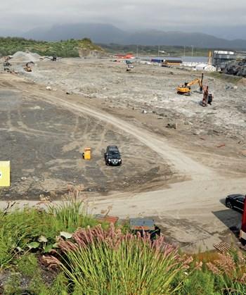 Foto av byggeplass. Foto: Klaus Eriksen